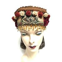 Vintage Hat Tapestry Beads