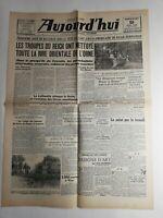 N254 La Une Du Journal Aujourd'hui 9 juin 1944 troupes Reich nettoyé