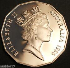 **1986 Scarcer  Australian 50 cent  Proof  **