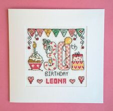 Happy 30th Birthday cross stitch card kit
