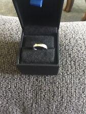 10k White Gold Plain Wedding Band Size 6