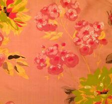 DESIGNERS GUILD Portier Darly Floral Silk Rose Pink Gold Remnant New