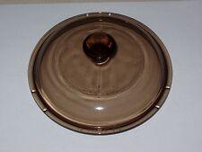 Glass Pyrex Lid V 1 C amber/brown