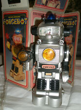 "Vintage Battery Operated Robot toy ""FORCEBOT"". BOTOY TAI WAY Toys Co.'80s China."
