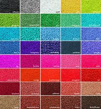 INWARIA Rocailles opak Ø 2/3/4 mm 20/100 g Perlen satte Farben Glasperlen, RP-33
