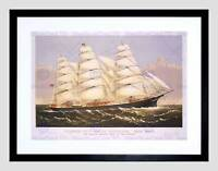 PAINTINGS THREE BROTHERS CLIPPER SHIP SAIL MAST SEA FRAMED ART PRINT B12X9946