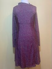 Prana Long Sleeve Striped Stretch Dress Size S EUC