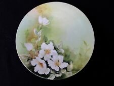 "Antique - White Floral Pattern - J P L Limoges France - 8 1/2"" Plate"