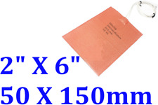 """2"""" X 6"""" 50 X150mm 24V 1.5W Heating at 10 Degree C CE UL JSRGO Silicone Heater"""