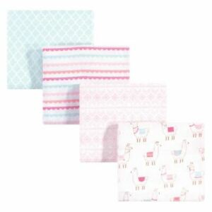 Hudson Baby Cotton Flannel Receiving Blankets, Llama, One Size
