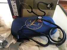 Stethoscope Black tubing colourful head with case