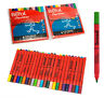 Pack 24 Berol Papermate Broad Colour Washable Felt Tip Colouring Art Pens School