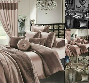 7Pcs COMPLETE EMBROIDERY Polyester Duvet Cover + Cushion And Sheet Bedding Set