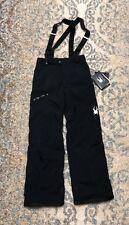Spyder Propulsion Kids Ski Pants- Black Size 18 Youth Boys ($20 OFF)