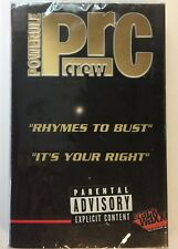 "POWERULE ""RHYMES TO BUST/IT'S YOUR RIGHT"" CASSETTE OG 1998 MARK RONSON NEW"