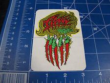 vtg 1980s Alva skateboard sticker Dave Duncaan creature claw
