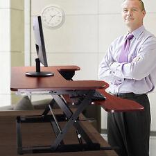 New Wide Height Adjustable Standing Desk Sit to Stand Desk Work Home Desk Riser