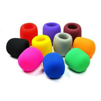 10PC Colors Handheld Stage Microphone Windscreen Foam Mic Cover Karaoke DJ