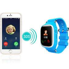 Bunt Touch Screen Anruf SmartWatch Kinder Uhr GPS Tracker Peilsender Ortung Blau