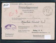 02630) Kriegsgefangenenpost Brf France 1942 > STALAG IV F Hartmannsdorf