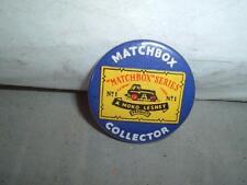 VINTAGE ORIGINAL 1960'S MATCHBOX COLLECTORS PIN TIN BADGE NOT REPRODUCTION !!!