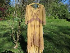 """LOW PRICE! """"Nataya"""" NEW vintage look Downton Abbey, special occasion amber dress"""