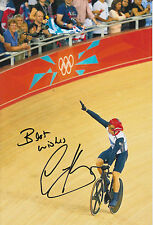 CHRIS HOY HAND SIGNED LONDON 2012 OLYMPICS 12X8 PHOTO GREAT BRITAIN 1.