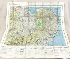 1987 Military Map of East Anglia Bedford Luton RAF Helicopter Pilot Aeronautical
