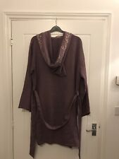 toast embroidered Hooded Gown M/L Linen Cotton Silk Mix £££