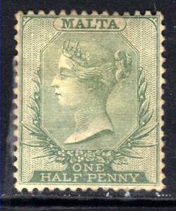 Malta 1885 - 90 QV 1/2d Green CA wmk MNG SG 20 ( A386 )