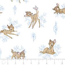 "Disney Bambi Toile Marina Blue Camelot 100% cotton Fabric Remnant 20"""