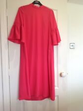 BNWT LADIES MARKS & SPENCER M&S HOT PINK STATEMENT SLEEVE TUNIC DRESS SIZE 18