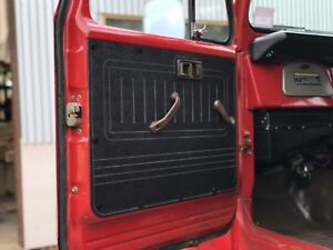 Black Toyota Landcruiser FJ40, FJ45 ABS Door Trim Panels. Rugged & Waterproof.