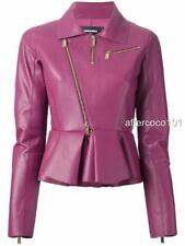 Dsquared2 peplum hem Lamb Leather jacket UK6 IT40 Dsquared, rrp3750USD