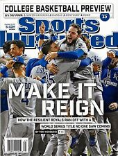 New Sports Illustrated 2015 Kansas City Royals World Series Champions No Label