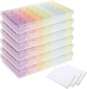 6 Pack 28 Grids Plastic Organizer Box for Diamond Storage Rhinestones Beading