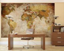 photo Wall Mural Wallpaper Retro World MAP Wall Art Paper Decor 2.0x1.4m BZ674