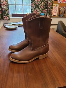 Red Wing Pecos Style 1155 Men's 10D  Vibram Sole in Amber Harness