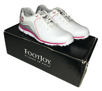 FootJoy Women's Pro SL Golf Shoes 98101 White/Grey/Pink Ladies 6M