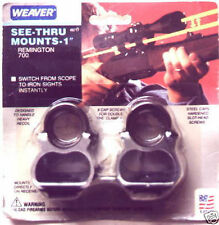 WEAVER SEE THRU SCOPE MOUNT WEATHERBY VANGUARD  MARK V