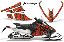 AMR Sled Sticker Arctic Cat F Series Snowmobile Graphic FIRE CAMO RED