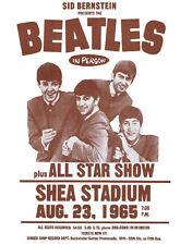"The Beatles Concert Poster Print - 1965 Shea Stadium Show - 11""x14"" Sepia"