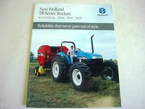 New Holland 80 to 96 HP TB Series Tractors Color Brochure 4 Pages             b1