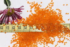 11/0  Glass Vintage French  Opal Citrus Seed Beads Crafts Jewelry Making  1oz