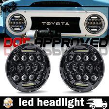 "7"" LED Daymaker Headlight Hi/Lo Beam For 1965-1985 Toyota Land Cruiser FJ40"