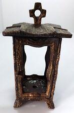 Grablaterne Bronze Guss Grablicht Grablampe massiv Relief Grabschmuck Gravelamp