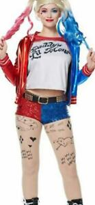 New Women kids Harley Quinn suicide squad Halloween cosplay party bomber jacket