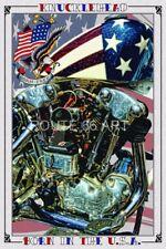 HARLEY DAVIDSON MOTORCYCLE KNUCKLEHEAD ALL AMERICAN OLD SCHOOL ART PRINT