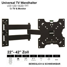 TV Wandhalterung LCD LED Fernseher Wandhalter 22 - 42 Zoll Neigbar schwenkbar
