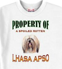 Dog T Shirt - Property Spoiled Rotten Lhasa Apso Rescue Animal Men Women # 34